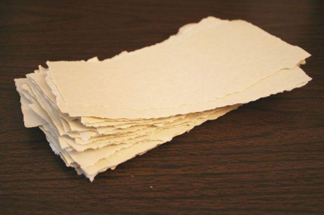 slips of paper