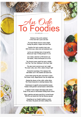 Ode to Foodie